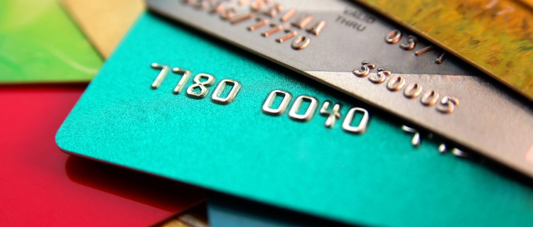 クレジットカードの接写