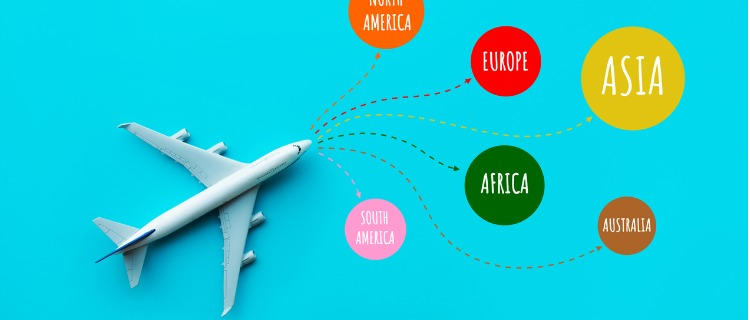 飛行機で世界各地へアクセス