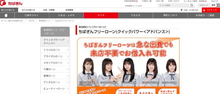 2位:千葉銀行フリーローン