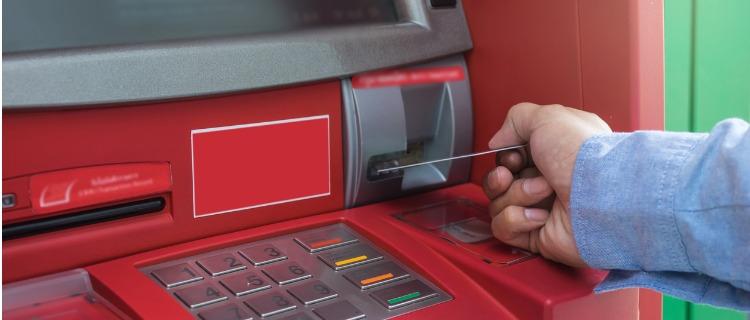ATMから出金