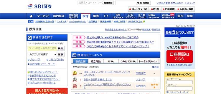 3. SBI・バンガード・S&P500・インデックスファンド